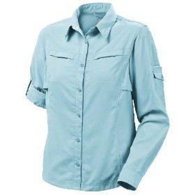 Columbia Womens Titanium Omni Dry Silver Ridge III Shirt