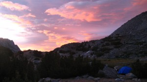 Sunset in the John Muir Wilderness, July 2009