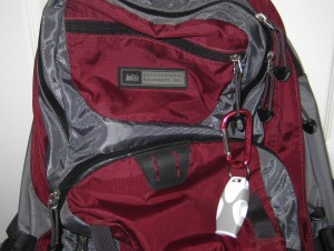 Fox40 Sharx Whistle on my Daypack