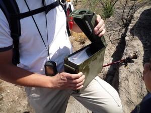 Finding a Geocache!