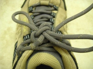 Step 3: Tie as normal and double knot the laces