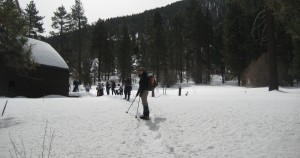 Snowshoeing in the San Gorgonio Wilderness, Southern CA