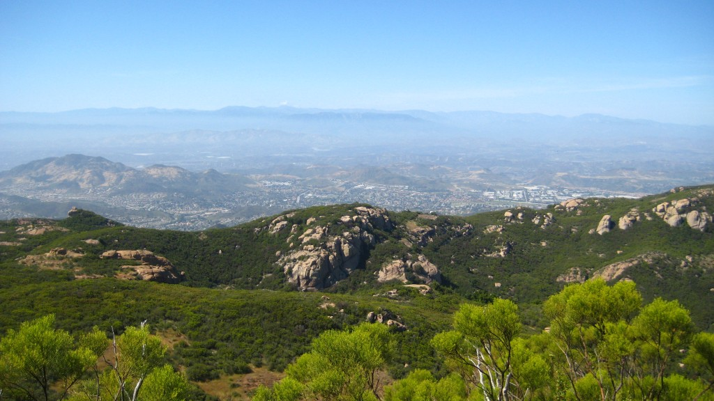 View looking north from Sandstone Peak, California