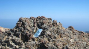 Summit Stone placed near an undisclosed peak in Southern California - will you find it?