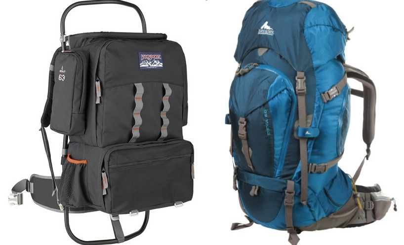 external and internal frame backpack