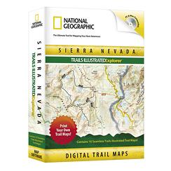 National Geographic Trails Illustrated CA Sierra Nevadas
