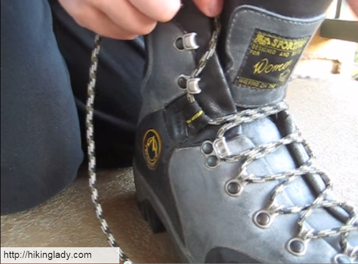 Putting Lace Hooks On Shoes