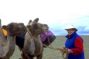 Helen Thayer in the Gobi Desert