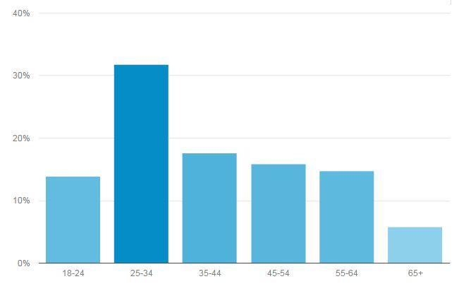 Google Analytics, Age Mix, HikingLady