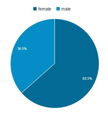 Google Analytics, Gender Mix, HikingLady