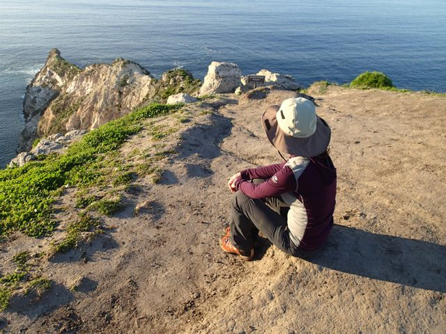Enjoying beautiful views on Santa Cruz Island wearing only my Icebreaker Oasis baselayer