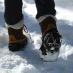 Hillsound Free Steps 6 Traction Device on my Kamik Boots
