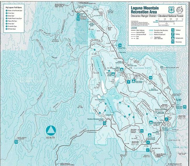 Laguna Mountain Recreation Area Map Hiking Lady