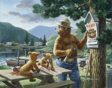 Smokey Bear fire safety