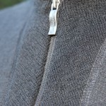 Woolpower's attention to detail seen in the collar and zipper