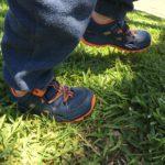 Hiking Baby testing the Merrell Kids Hydro 2.0