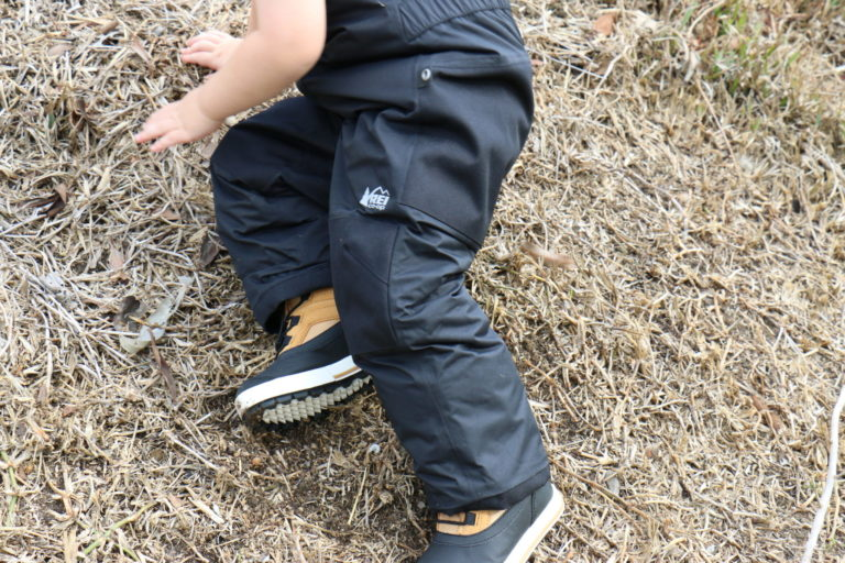Hiking Toddler ready for winter hikes, sledding, and lots of cold weather play time!
