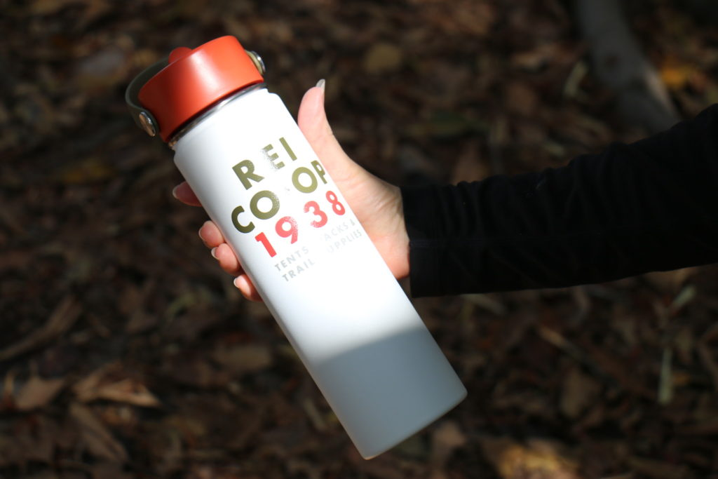 My insulated Hydroflask reusable water bottle