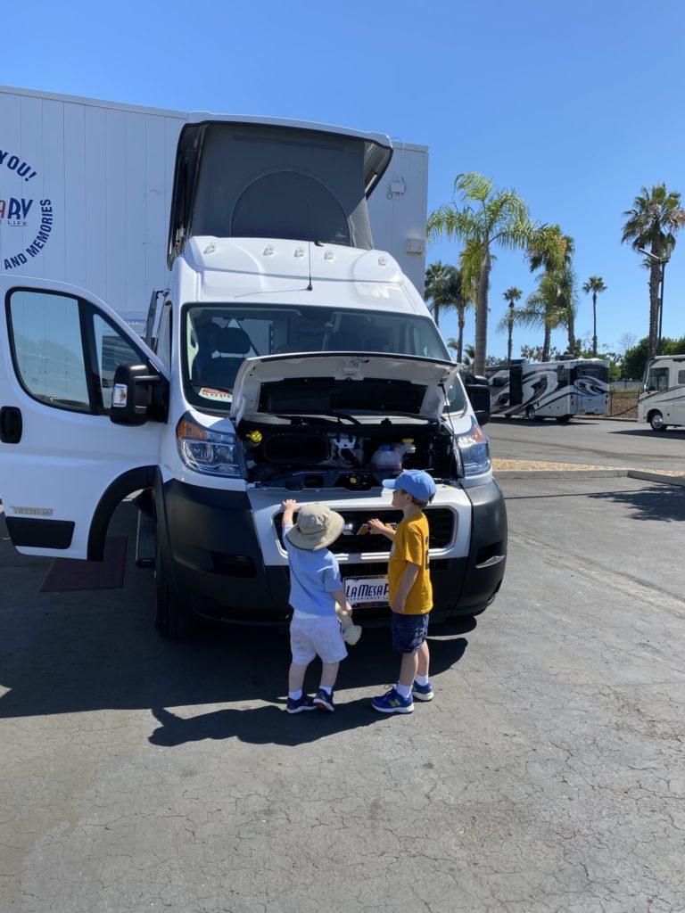 Inspecting the new Solis camper van